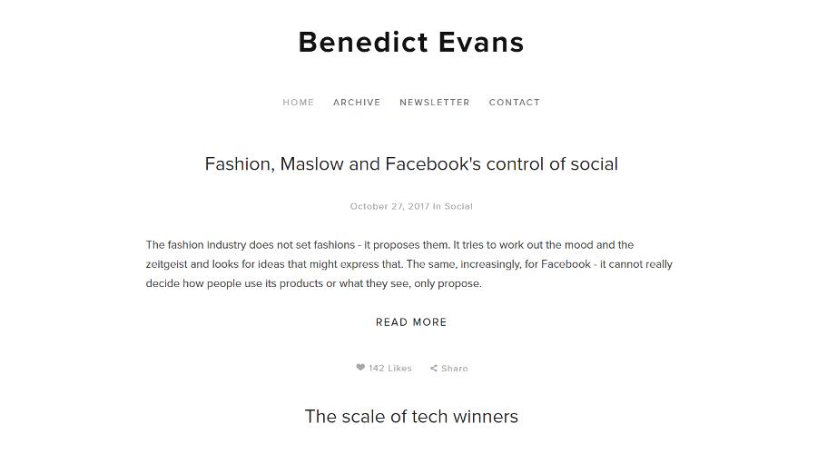 Benedict Evans newsletter image