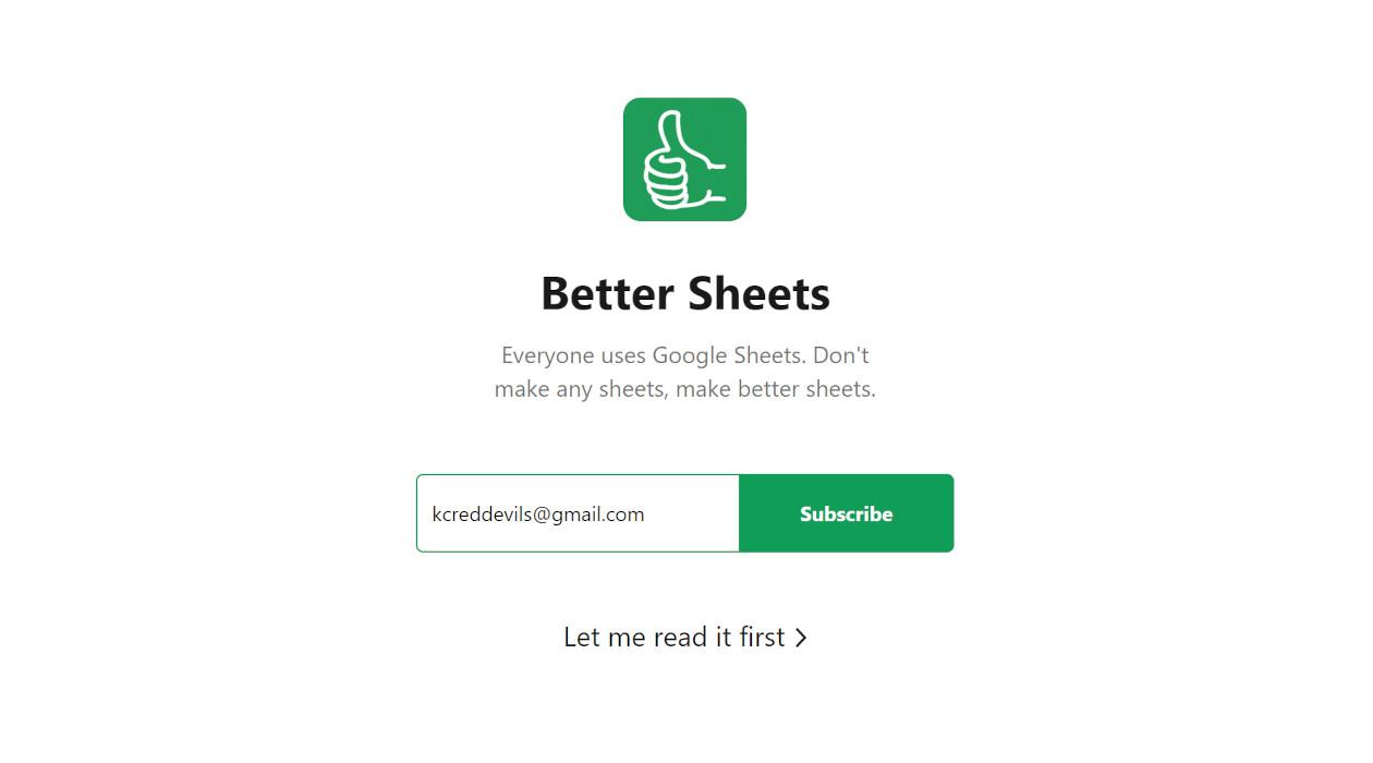 Better Sheets newsletter image