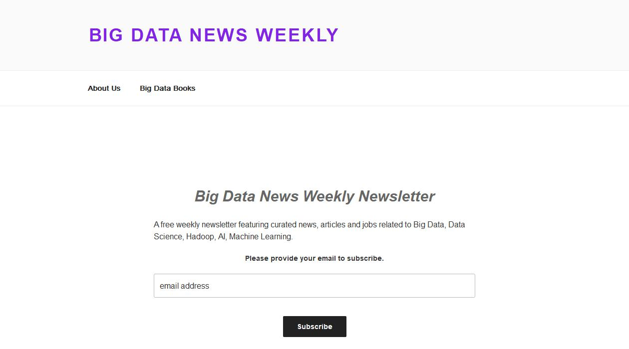 Big Data News Weekly Newsletter newsletter image