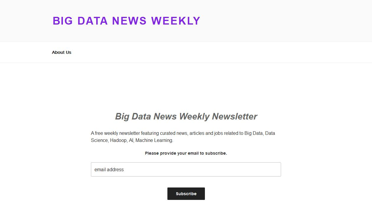 Big Data News Weekly newsletter image