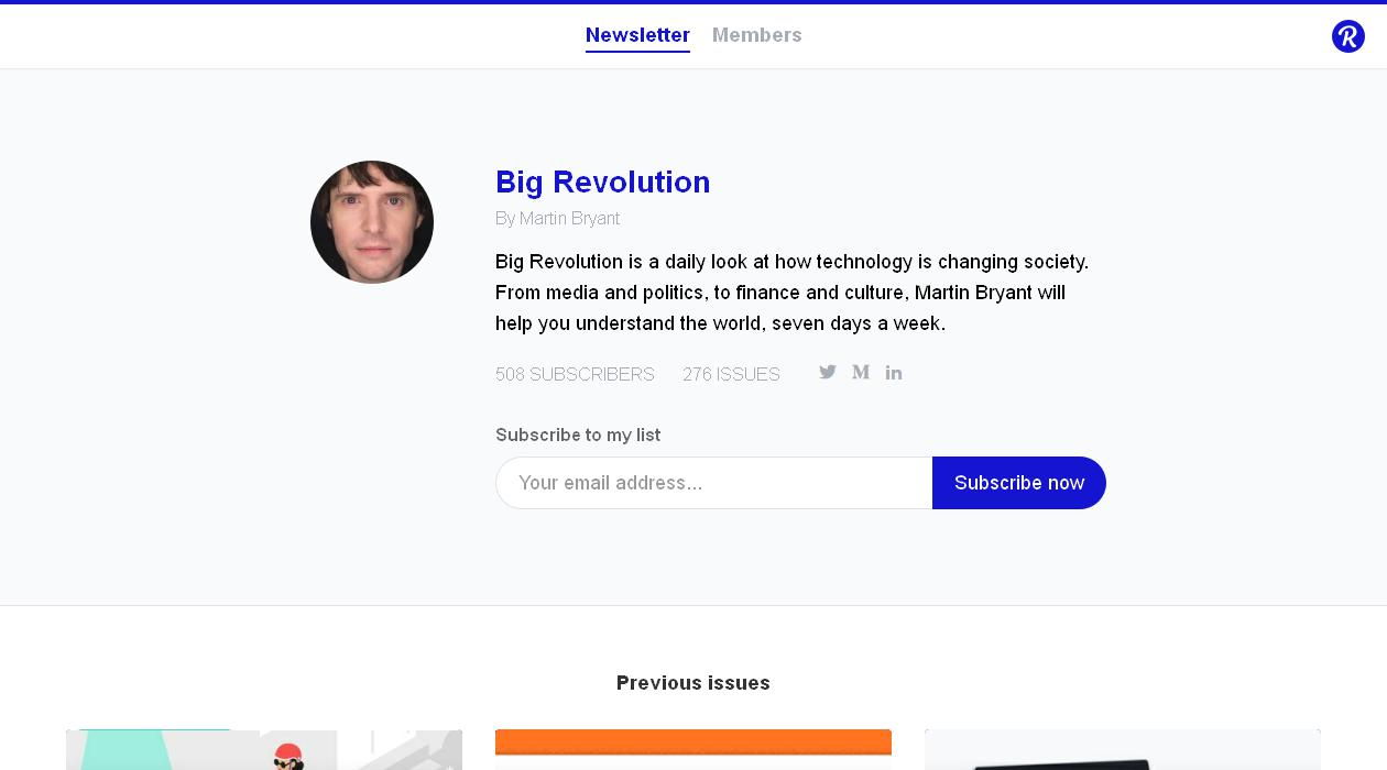 Big Revolution newsletter image