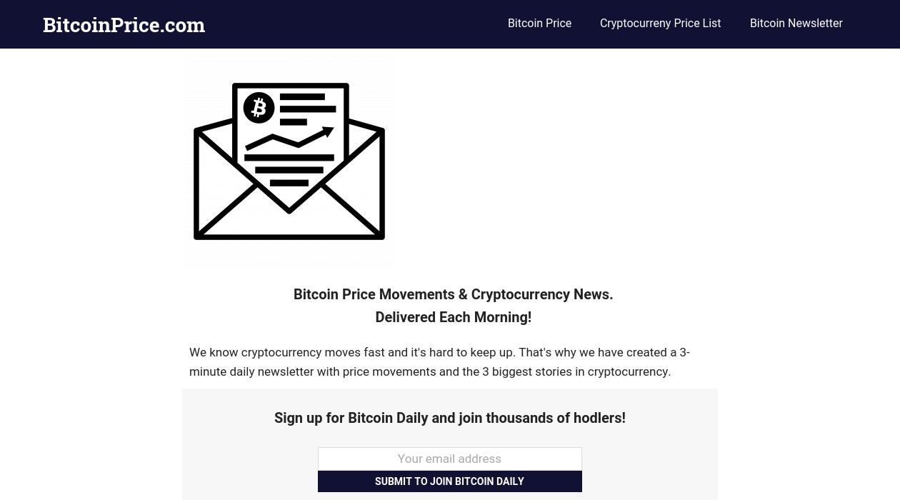 Bitcoin Daily newsletter image