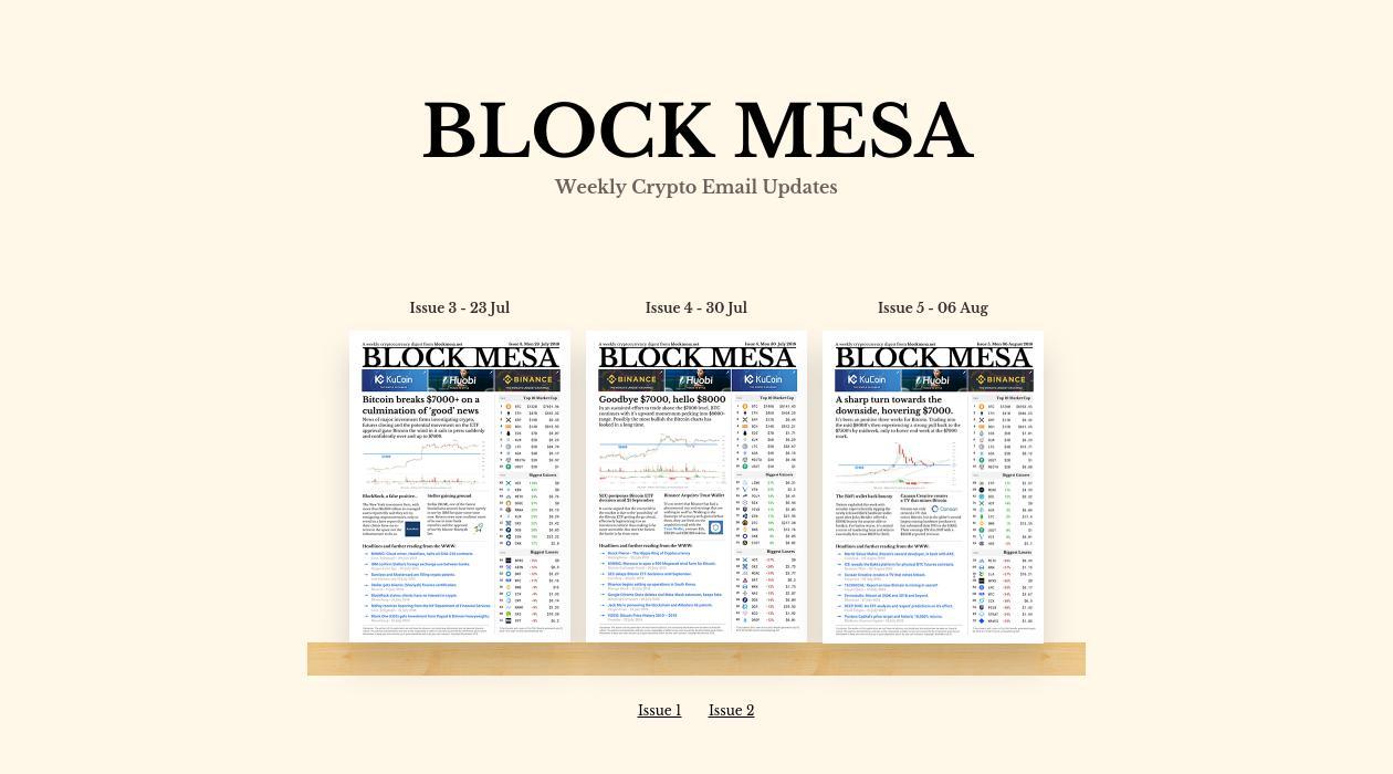 Block Mesa newsletter image