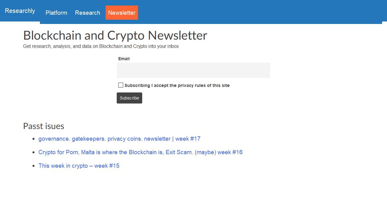 Blockchain and Crypto Newsletter newsletter image
