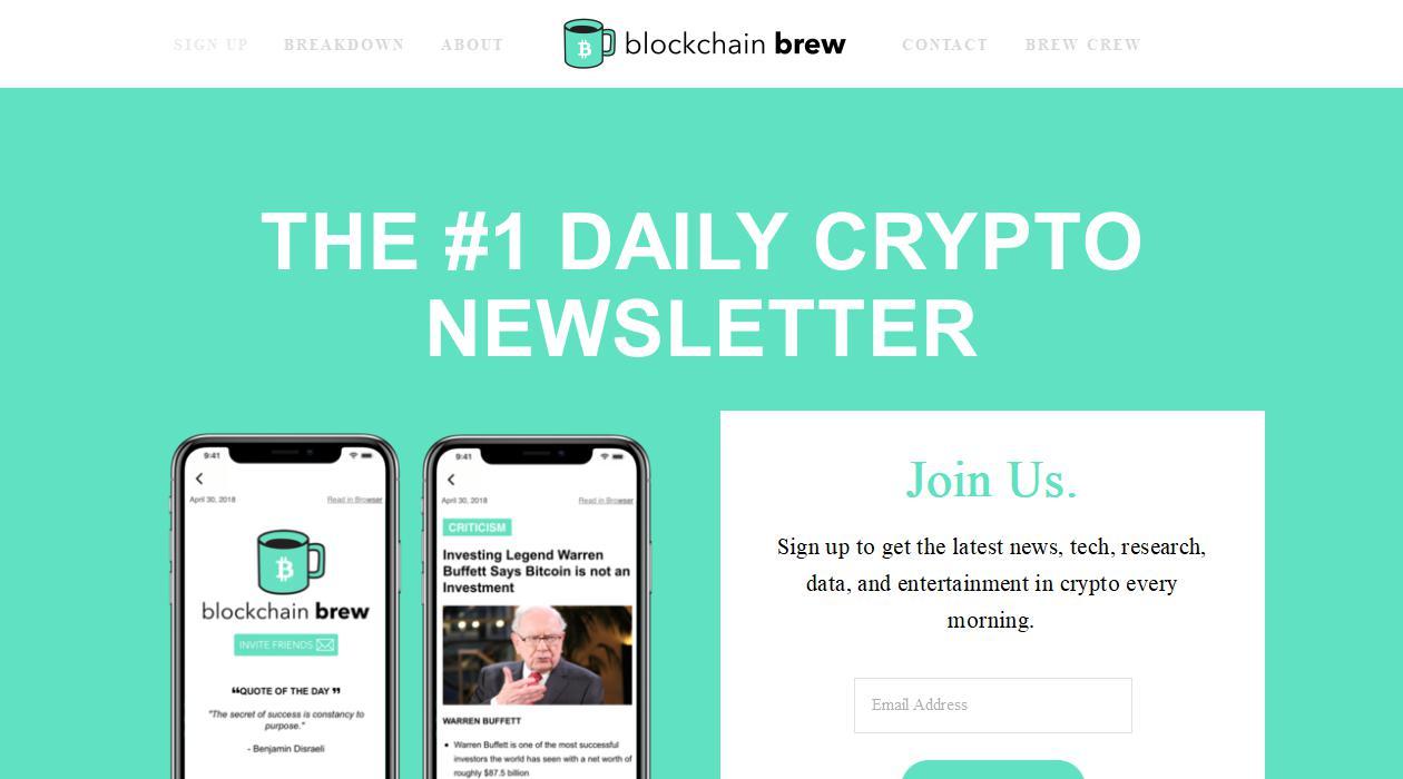 Blockchain Brew newsletter image