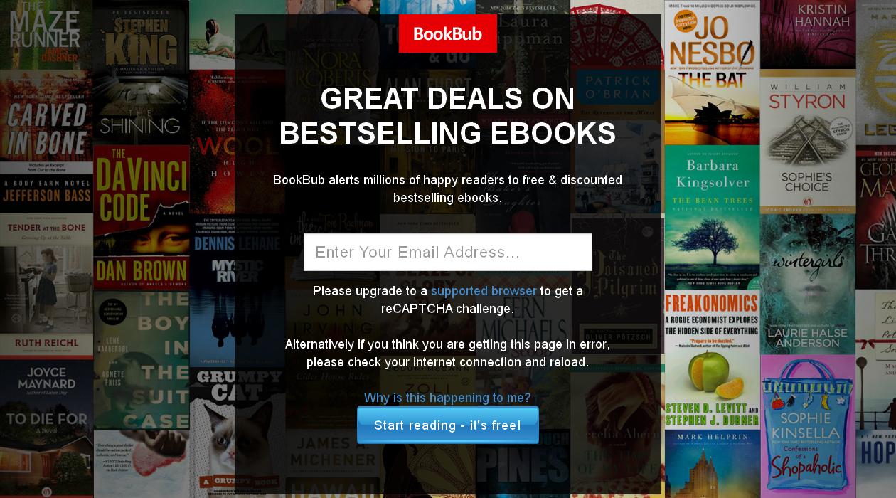 BookBub newsletter image