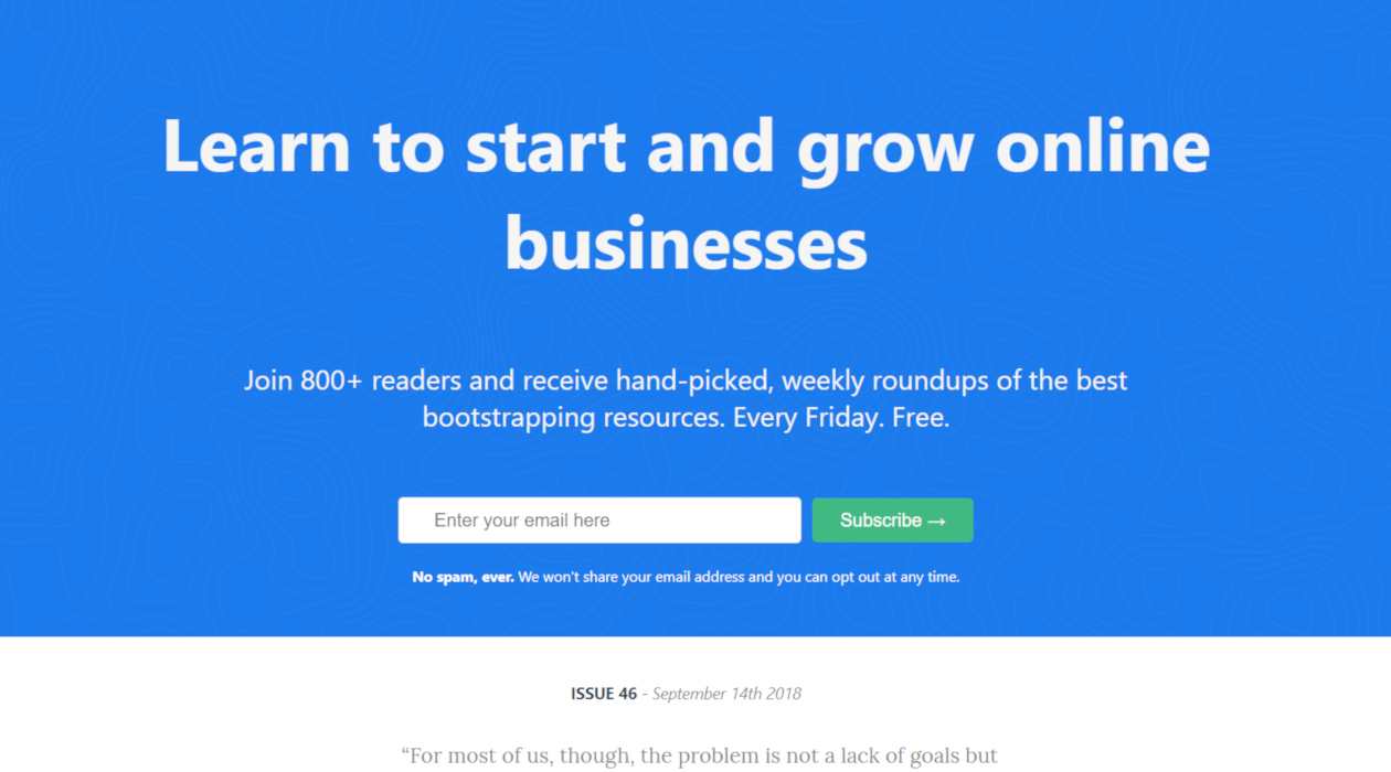 Bootstrap Money newsletter image
