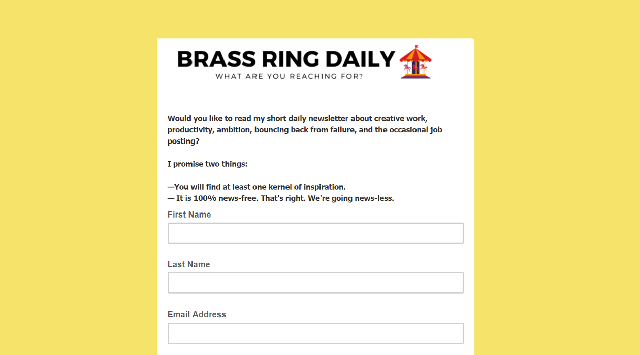 Brass Ring Daily newsletter image
