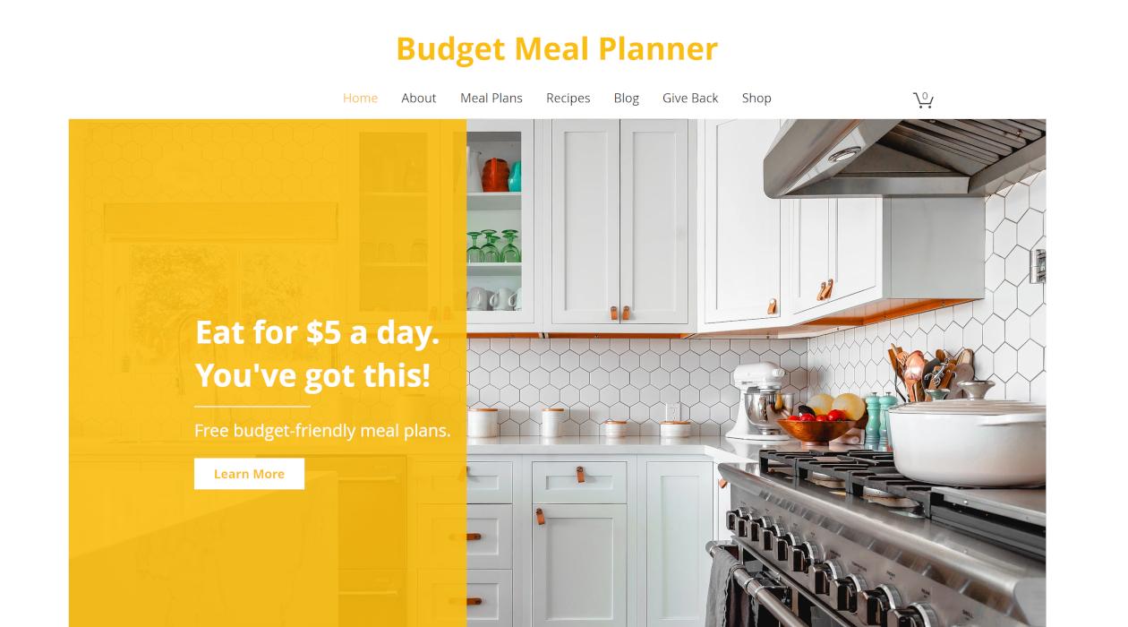 Budget Meal Planner newsletter image