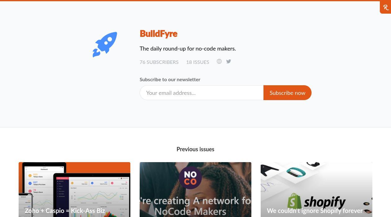 BuildFyre newsletter image