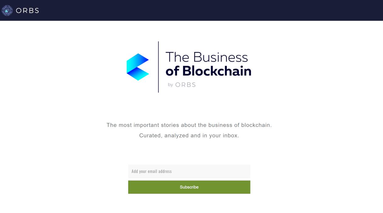 Business of Blockchain newsletter image