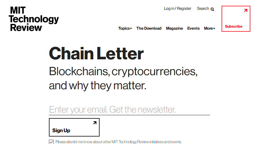 Chain Letter newsletter image