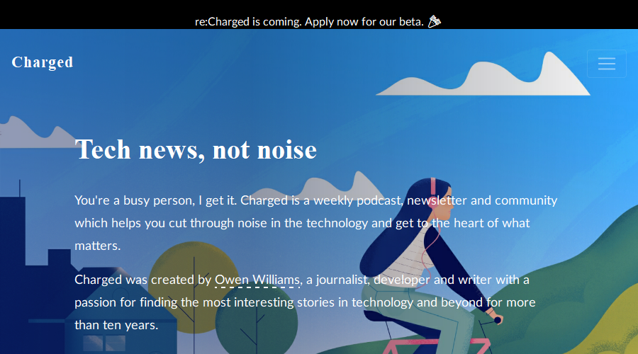 Charged newsletter image