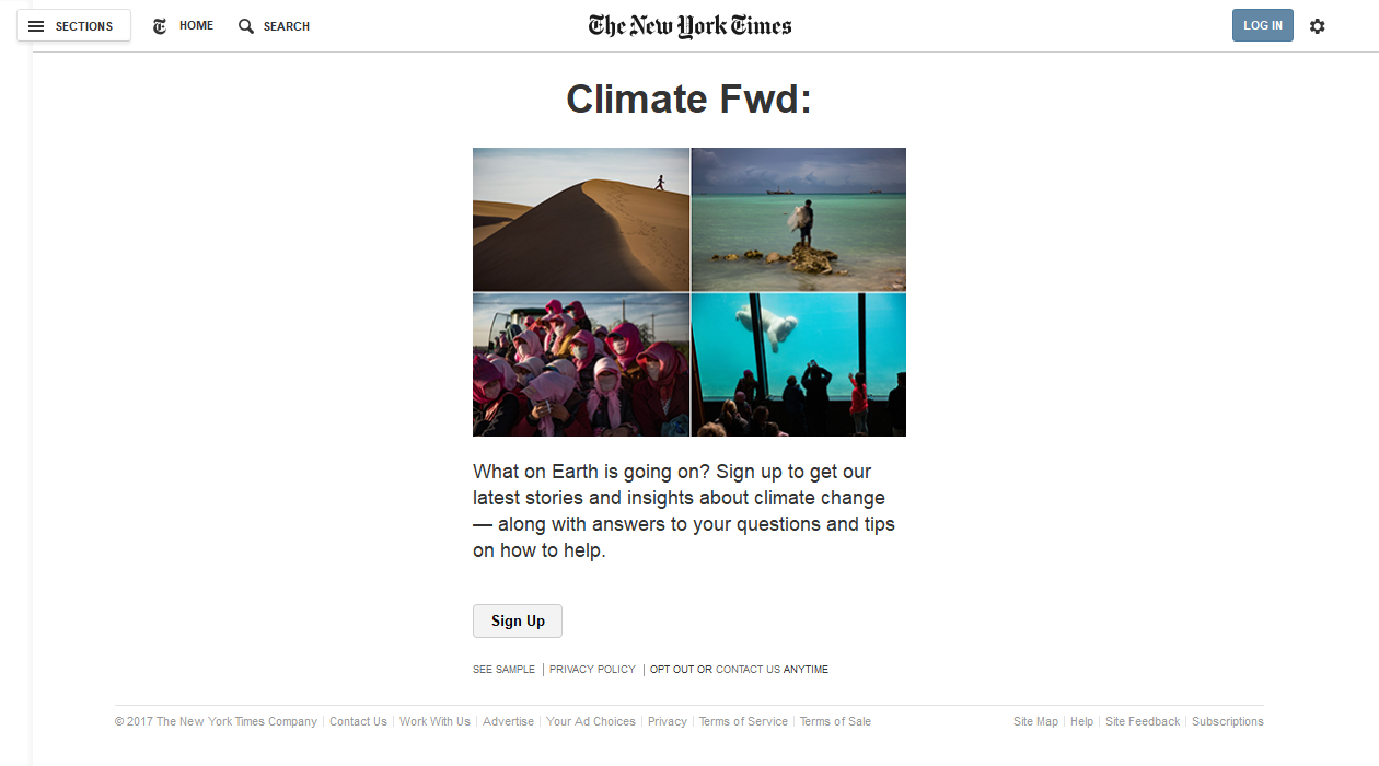 Climate Fwd newsletter image
