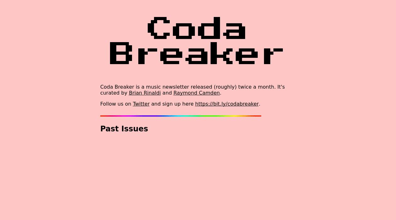 CodaBreaker newsletter image