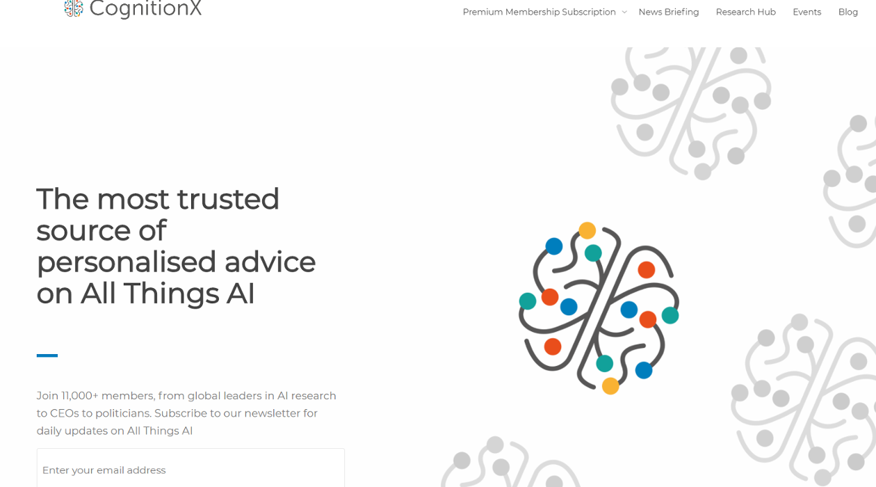 CognitionX newsletter image