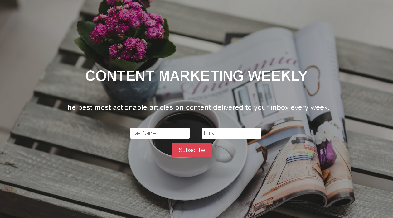 Content Marketing Weekly newsletter image