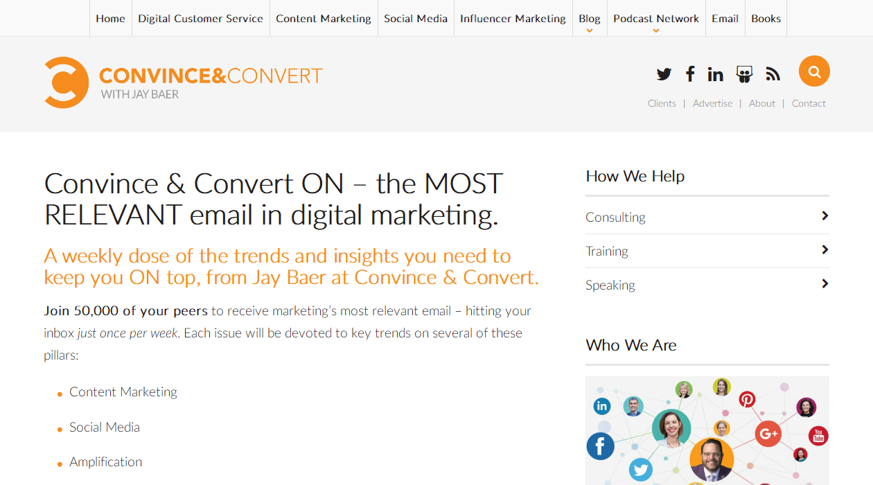 Convince & Convert ON newsletter image