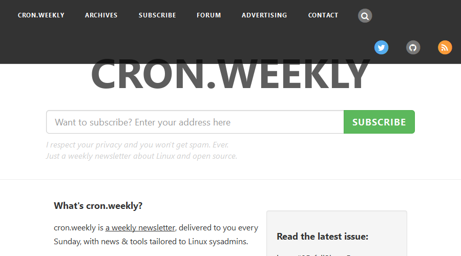 cron.weekly newsletter image