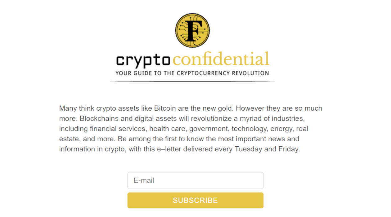 Crypto Confidential By Forbes newsletter image