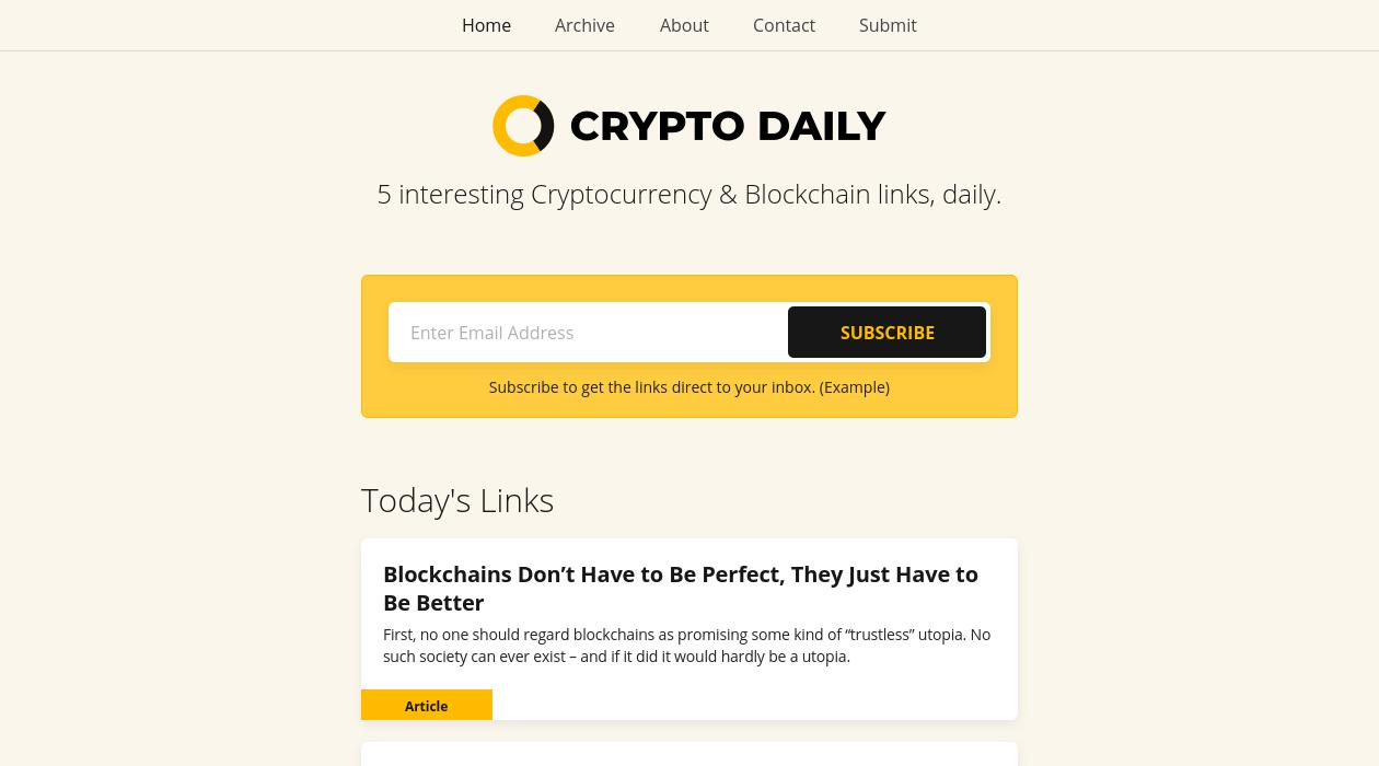 Crypto Daily newsletter image