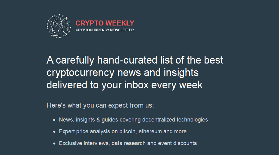 CryptoWeekly newsletter image