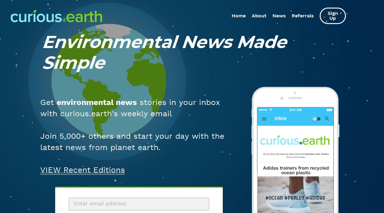 Curious Earth newsletter image