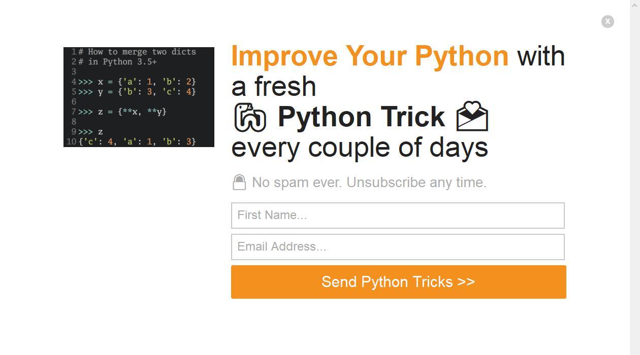 Dan's Python Newsletter newsletter image