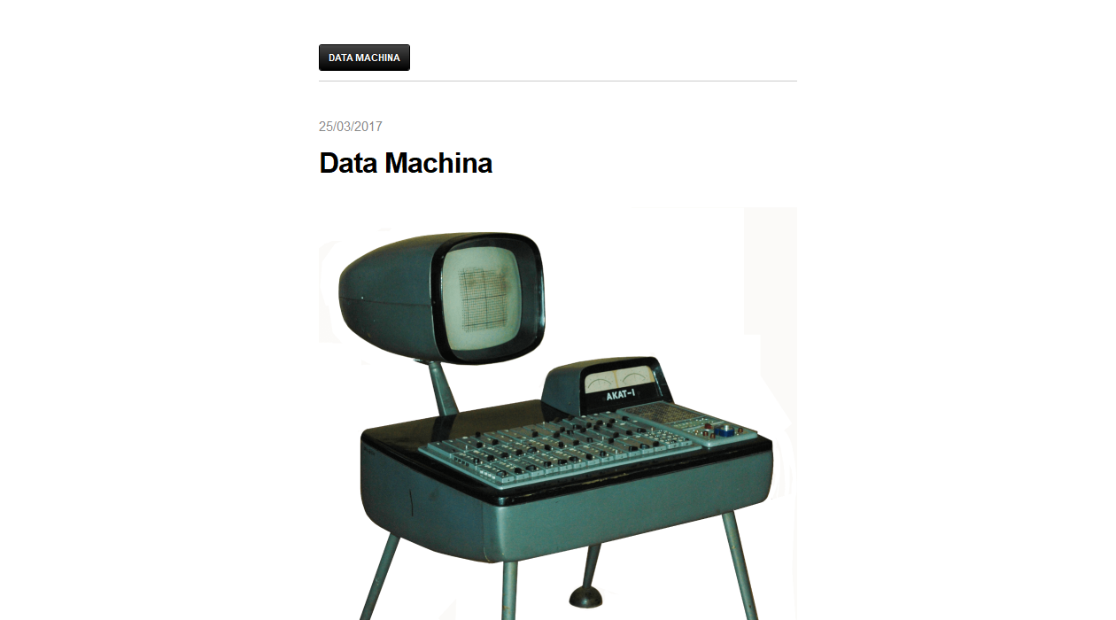Data Machina newsletter image