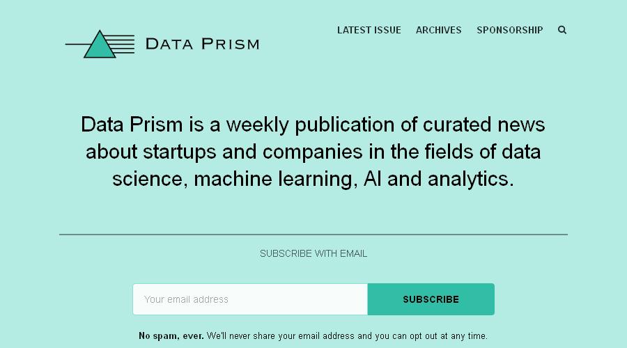 Data Prism newsletter image