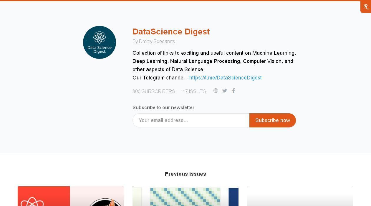 DataScience Digest newsletter image