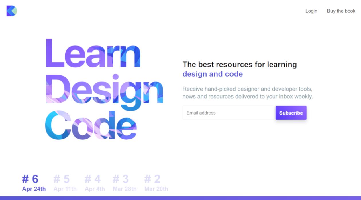 design+code newsletter image