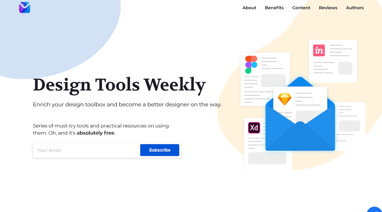 Design Tools Weekly newsletter image