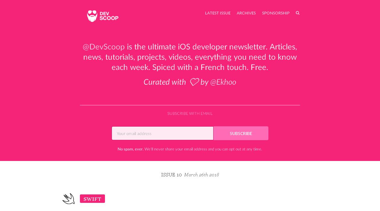 Dev Scoop newsletter image