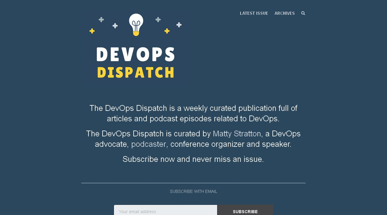 DevOps Dispatch newsletter image