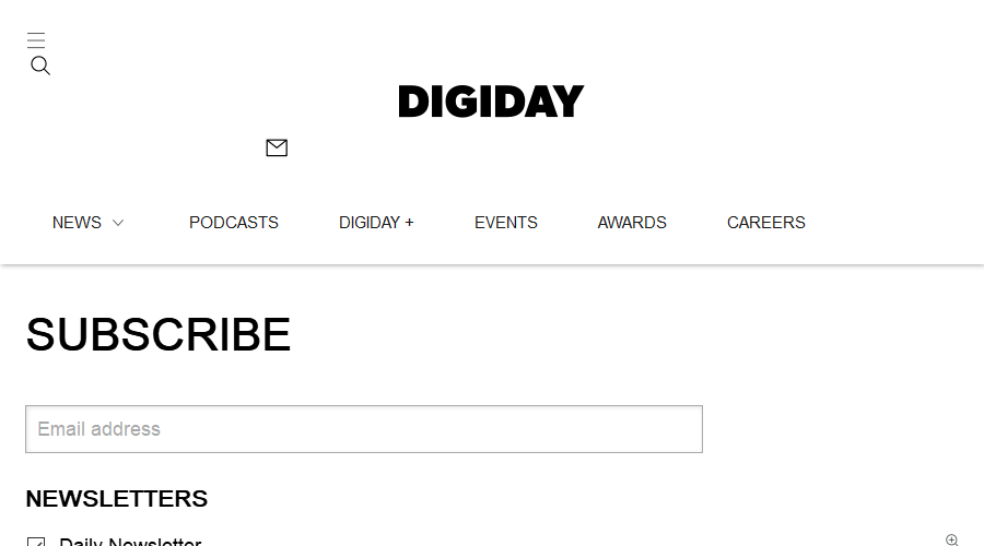 Digiday Daily newsletter image
