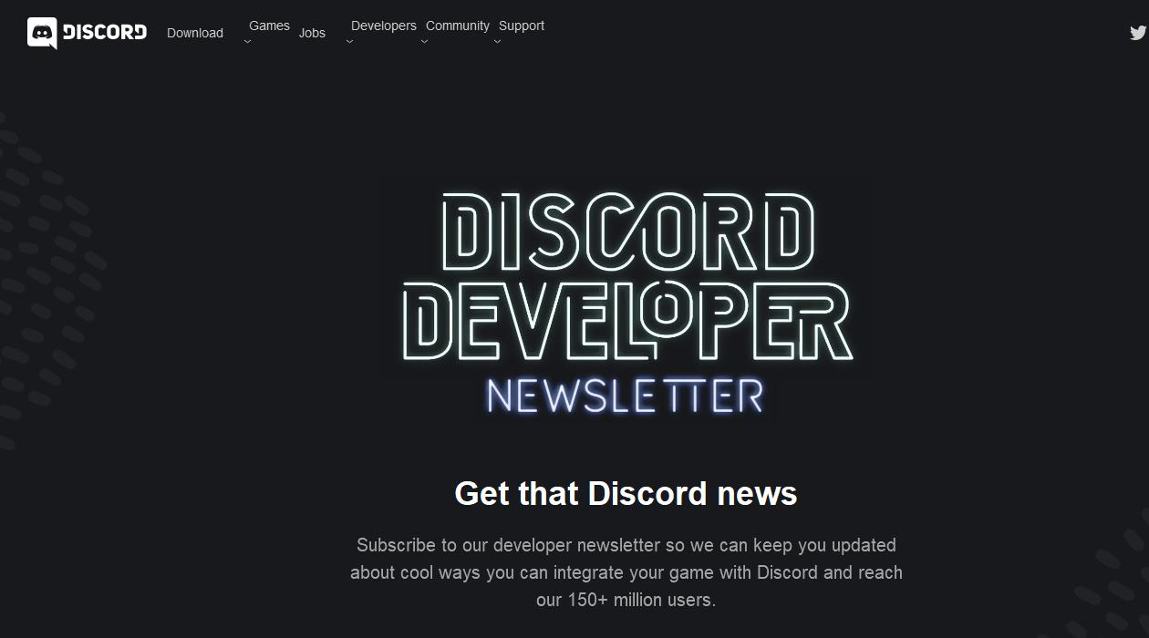 Discord Developer Newsletter newsletter image