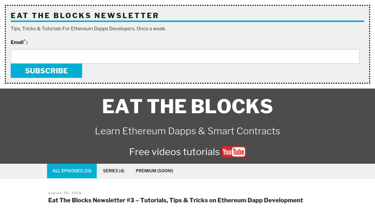 Eat The Blocks newsletter image