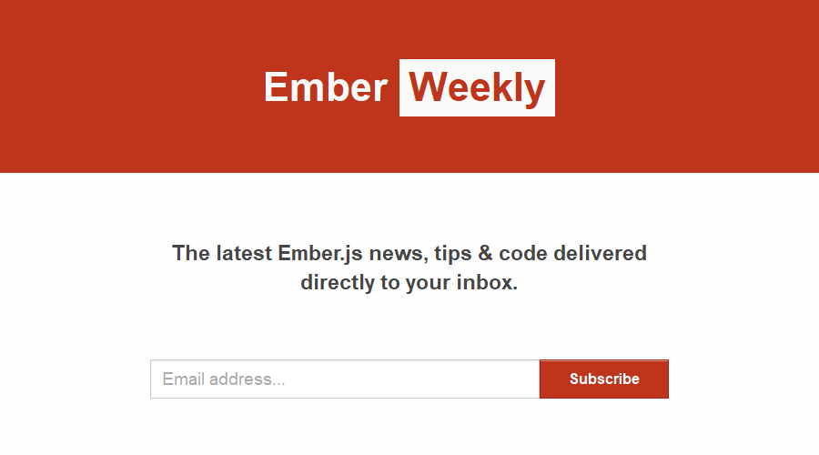 Ember Weekly newsletter image