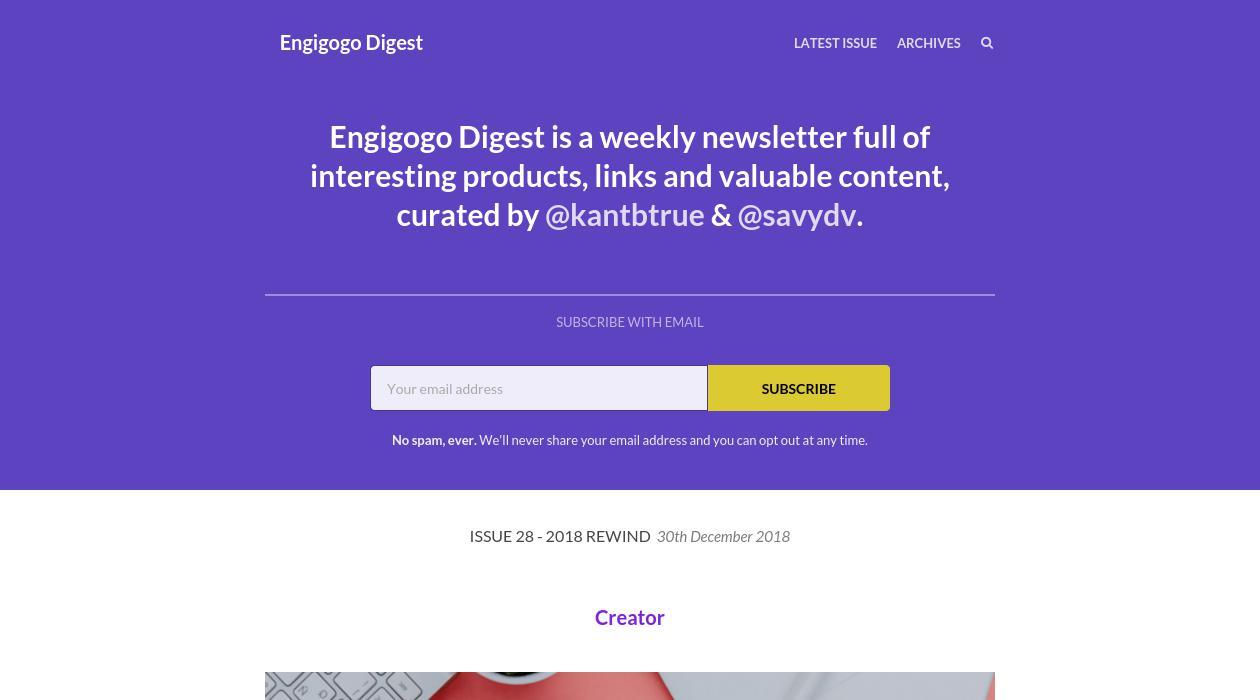 Engigogo Digest newsletter image
