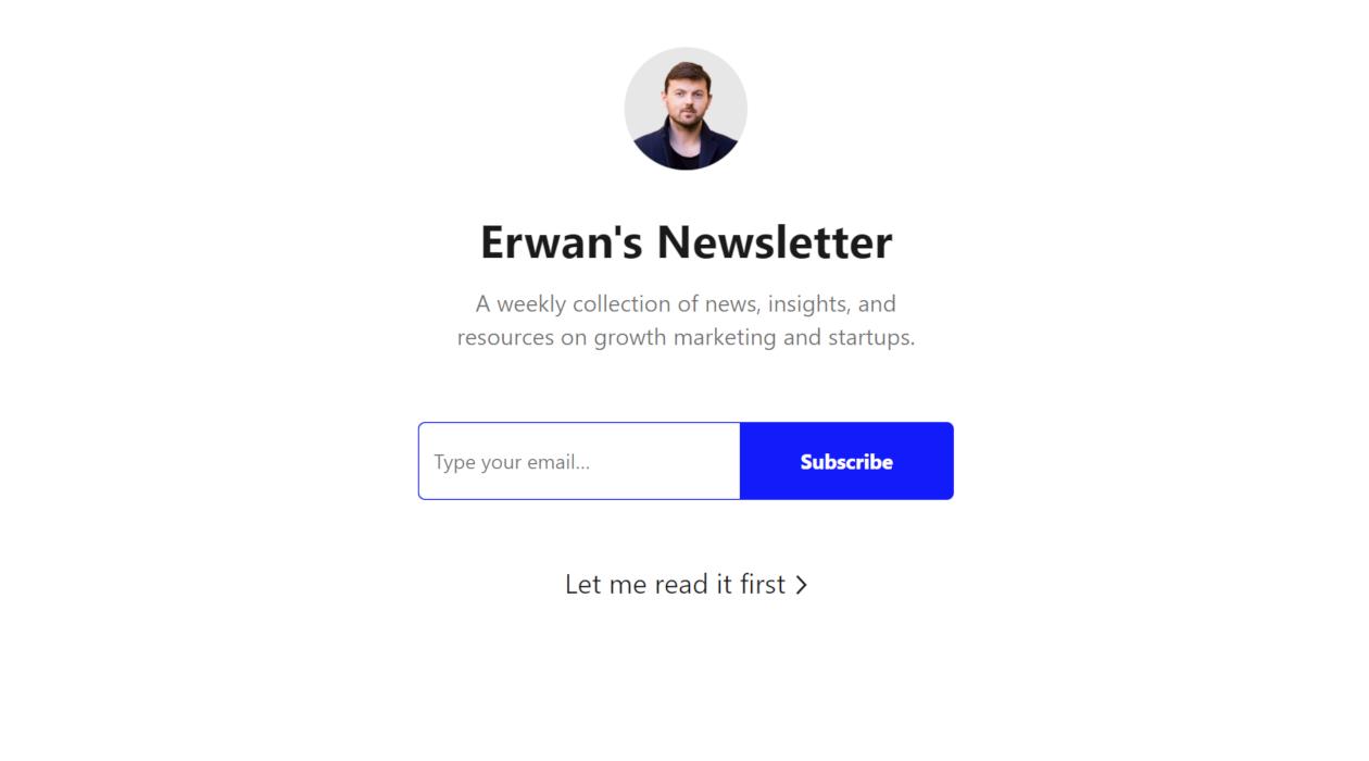 Erwan's Newsletter newsletter image