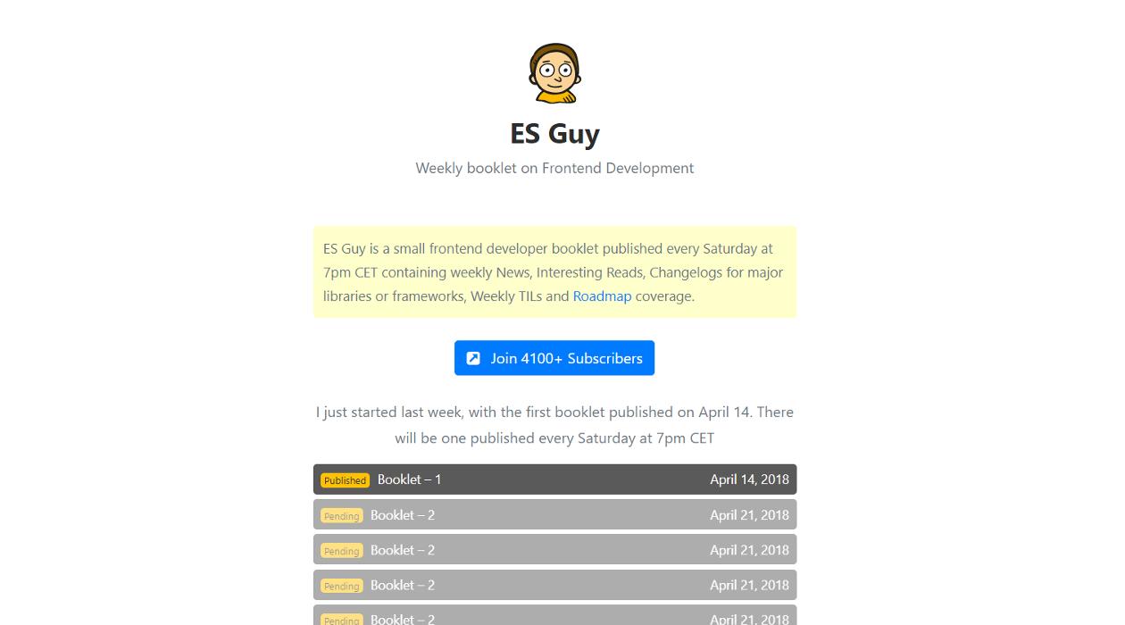 ES Guy newsletter image