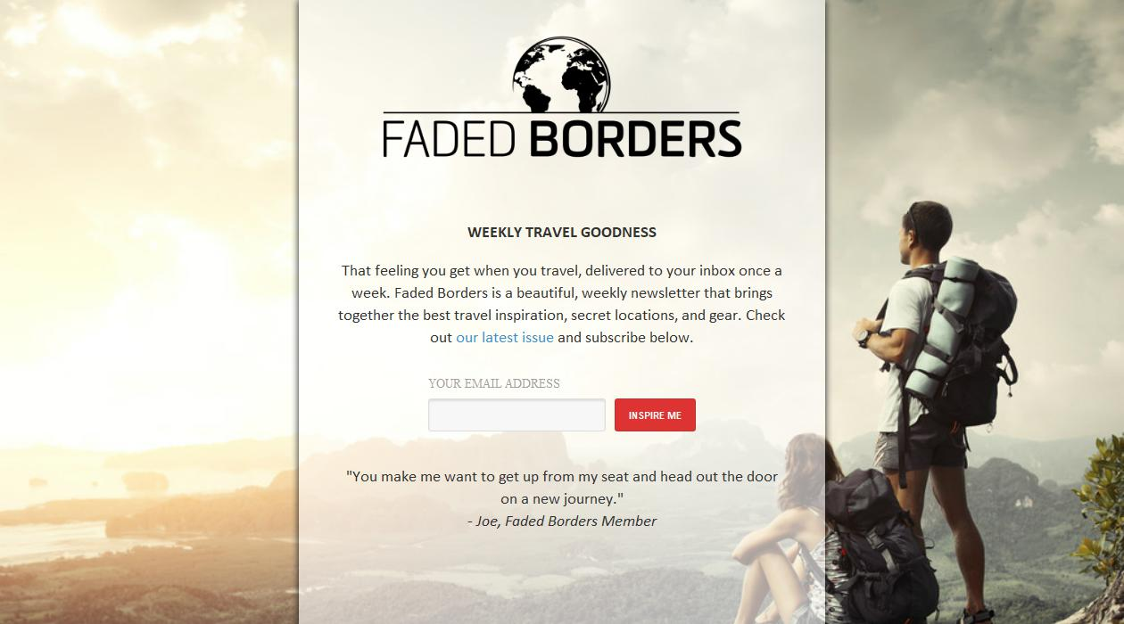 Faded Borders newsletter image