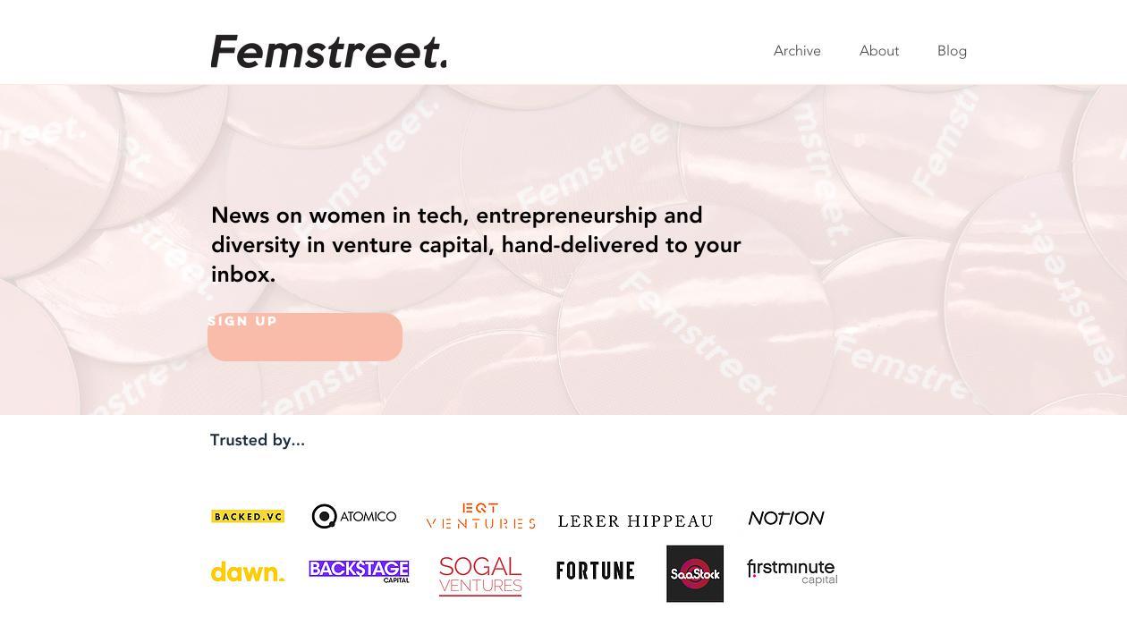 Femstreet newsletter image