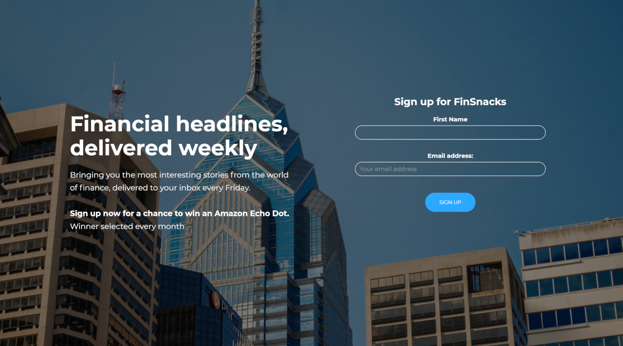 FinSnacks newsletter image