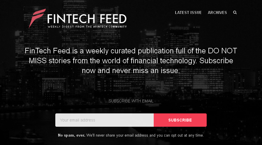 FinTech Feed newsletter image