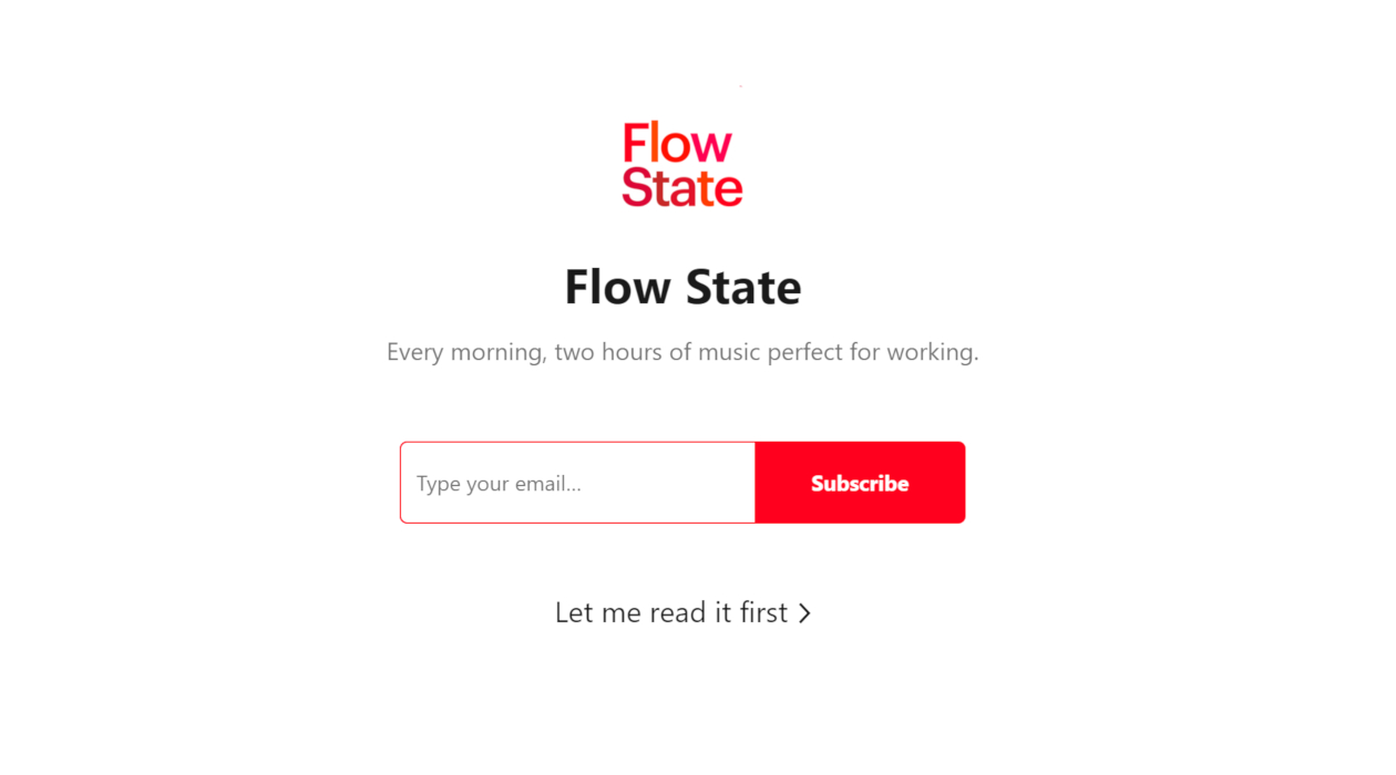 Flow State newsletter image
