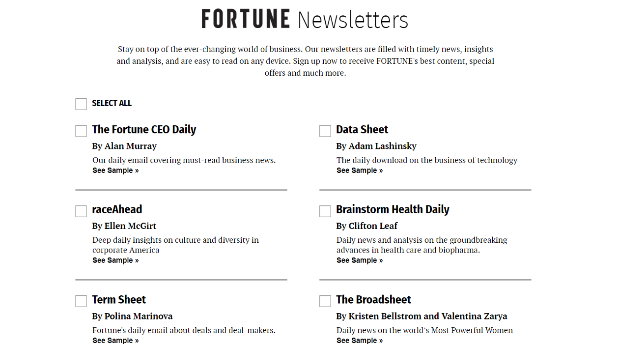 Fortune Newsletters newsletter image