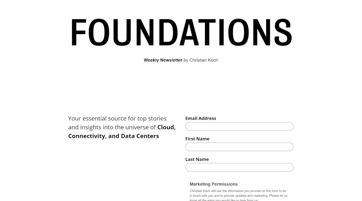 Foundations newsletter image