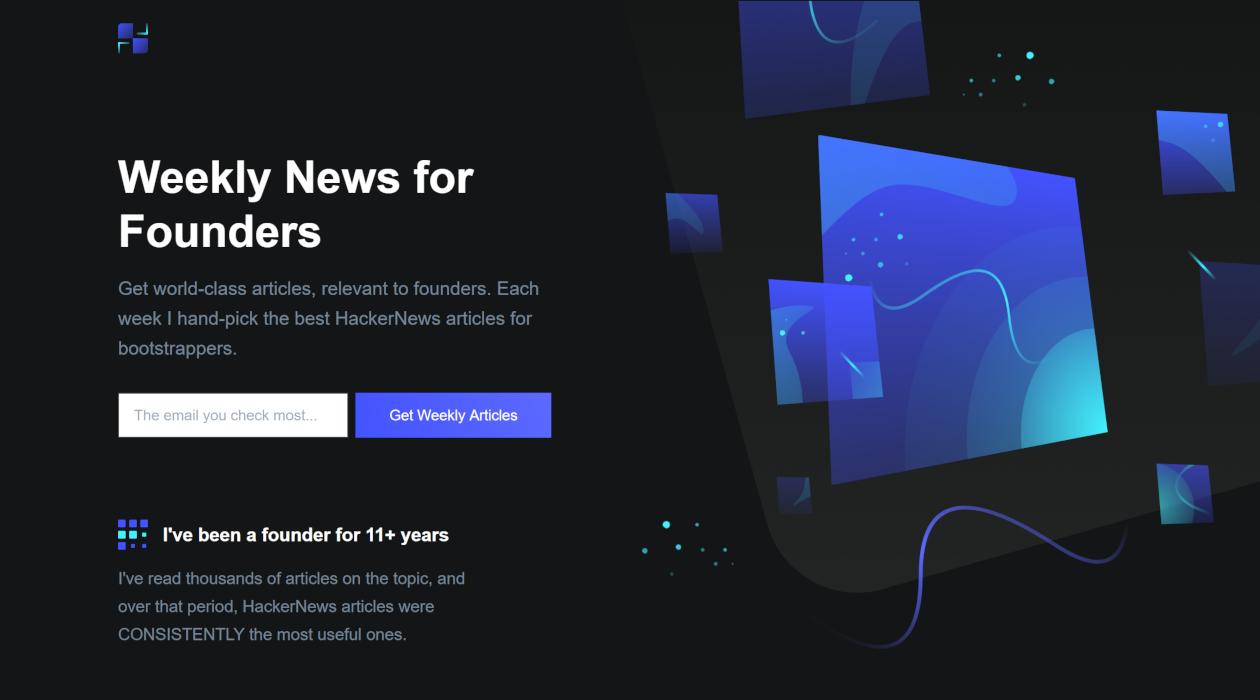 Founder News newsletter image